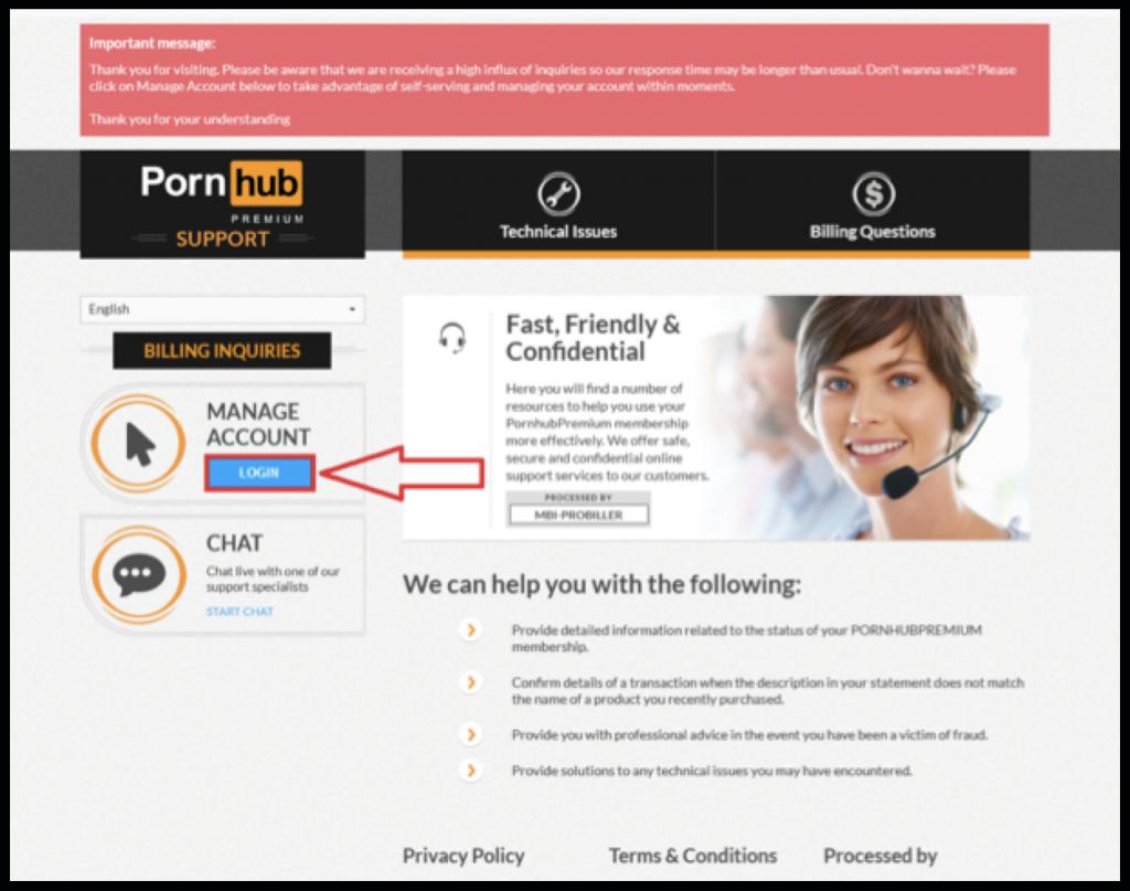 Pornhubpremium manage account