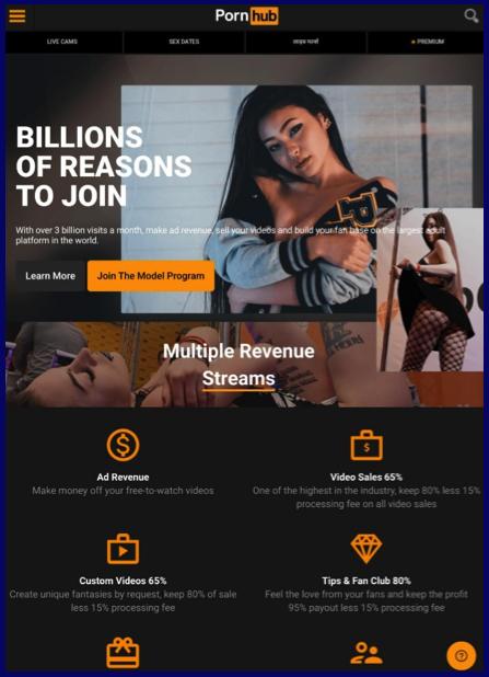 Pornhub model program