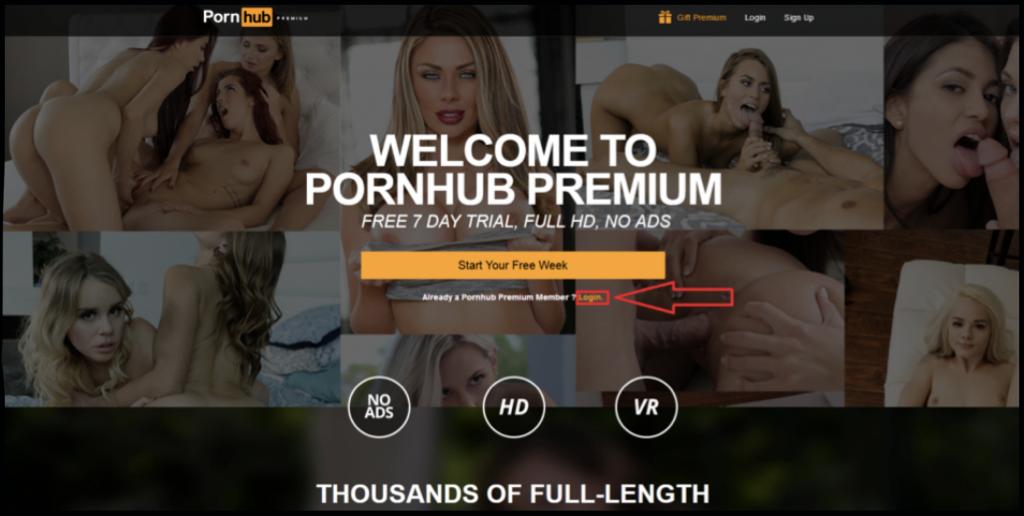 Pornohub Premium button login