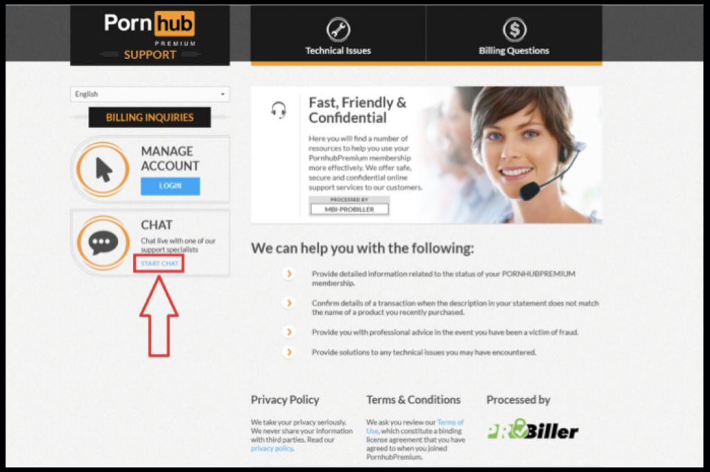 Pornhubpremium support by online chat