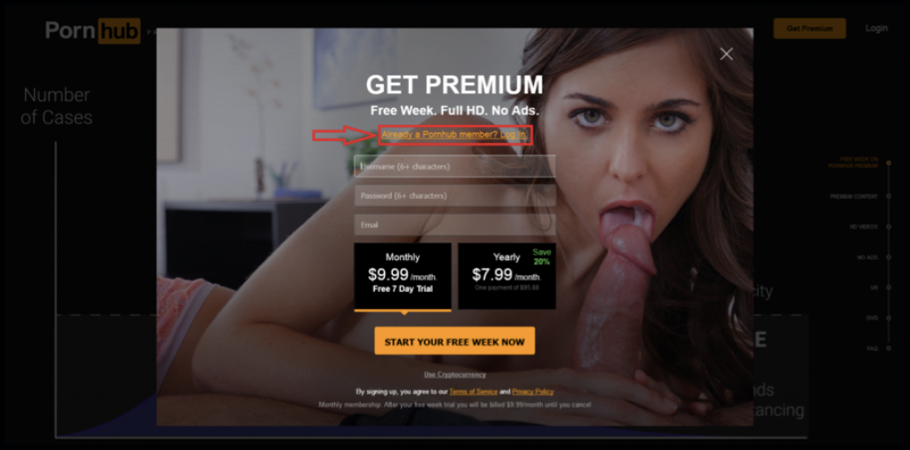 Already PornHub Premium member? Log In