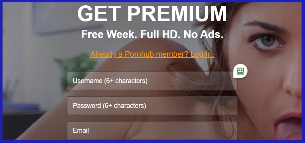 PornHubPremium Account Registration