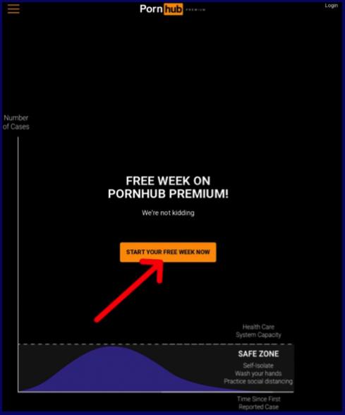 free week registration on PornHubPremium