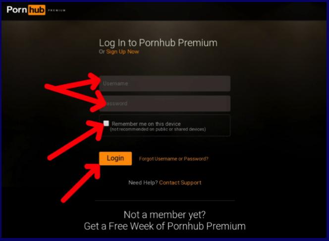 PornHubPremium login account before activation